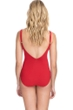 Profile by Gottex Bel Aire Paprika E-Cup Lace Up V-Neck Plunge Shirred One Piece Swimsuit