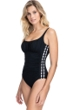Profile by Gottex Eden Black Shirred One Piece Swimsuit