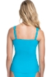 Profile by Gottex Ribbons Azure D-Cup Textured Scoop Neck Shirred Underwire Tankini Top