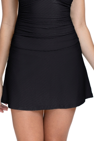 Profile by Gottex Ribbons Black Textured Cover Up Skirt
