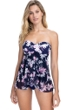 Profile by Gottex Sundance Navy and Pink Bandeau Strapless Flyaway One Piece Swimsuit
