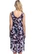Profile by Gottex Sundance Navy and Pink V-Neck Tie Back Surplice Dress