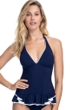 Profile by Gottex Belle Curve Navy Halter Tankini Top
