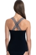 Profile by Gottex Set Sail Black D-Cup Scoop Neck Underwire Tankini Top