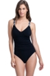 Profile by Gottex Set Sail Black V-Neck One Piece Swimsuit