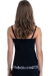 Profile by Gottex On the Dot Black D-Cup Scoop Neck Shirred Underwire Tankini Top
