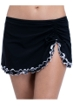 Profile by Gottex On the Dot Black Side Slit Skirt