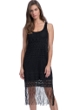 Profile by Gottex Sea Breeze Black Round Neck Dress with Frills