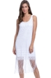 Profile by Gottex Sea Breeze White Round Neck Dress with Frills