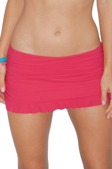 Profile by Gottex Azalea Tutti Fruti Ruffle Bottom Shirred Swim Skirt