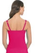 Profile by Gottex Raspberry Tutti Frutti D-Cup Shirred Underwire Tankini Top