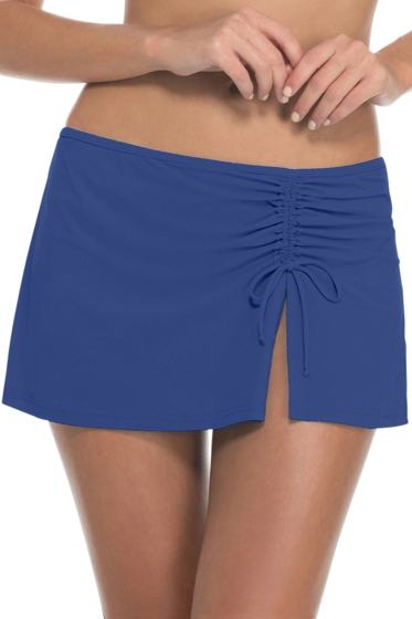 Profile by Gottex Blueberry Tutti Frutti Cinch Skirt Swim Bottom