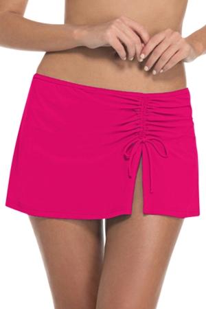 Profile by Gottex Raspberry Tutti Frutti Cinch Skirt Swim Bottom