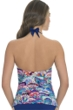 Profile by Gottex Madame Butterfly Shirred Halter Tankini Top