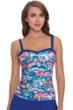 Profile by Gottex Madame Butterfly D-Cup Underwire Tankini Top