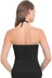 Profile by Gottex Black Swan Lake Shirred Bandeau Tankini Top