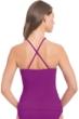 Profile by Gottex Purple Orchid Swan Lake Shirred Bandeau Tankini Top