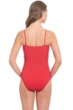 Profile by Gottex Poppy Swan Lake Shirred Bandeau One Piece Swimsuit