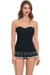 Profile by Gottex Enchantment Black One Piece Bandeau Swimdress