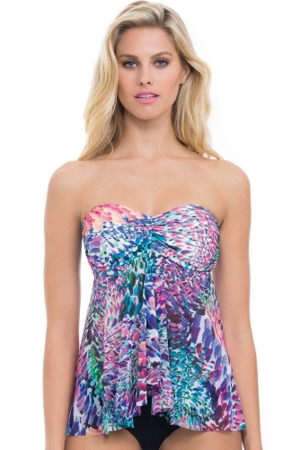 Profile by Gottex Canary Islands Bandeau Flyaway Tankini Top
