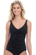 Profile by Gottex Waterfall Black D-Cup Molded Underwire Tankini Top