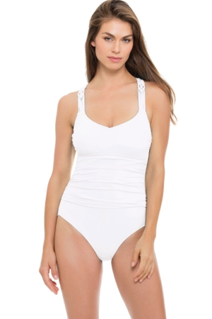 Profile by Gottex Java Shirred One Piece Swimsuit