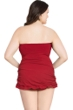 Profile by Gottex Tutti Frutti Red Plus Size Bandeau Swimdress