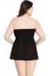 Profile by Gottex Tutti Frutti Black Plus Size Flyaway Bandeau One Piece Swimsuit