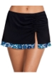 Profile by Gottex Collage Black Cinch Skirt Tankini Bottom