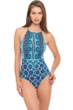 Profile by Gottex Collage High Neck One Piece Swimsuit