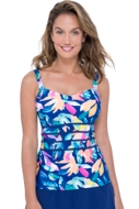 Profile by Gottex Bermuda Breeze D-Cup Scoop Neck Underwire Tankini Top