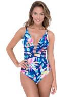 Profile by Gottex Bermuda Breeze V-Neck Plunge One Piece Swimsuit
