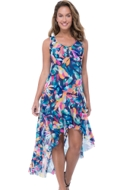 Profile by Gottex Bermuda Breeze High Low Mesh Beach Dress Cover Up