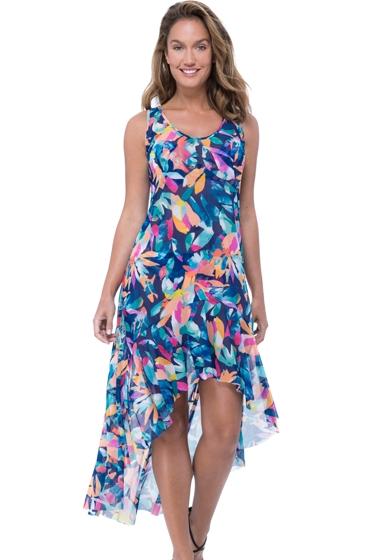 Profile by Gottex Bermuda Breeze High Low Mesh Beach Dress Cover Up
