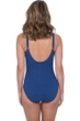 Profile by Gottex Murano Petrol Blue D-Cup V-Neck Plunge Shirred One Piece Swimsuit