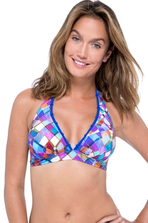 Profile by Gottex Via Veneto Banded Halter Bikini Top
