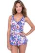 Profile by Gottex Via Veneto D-Cup V-Neck Peplum One Piece Swimsuit