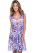 Profile by Gottex Via Veneto V-Neck Cap Sleeve Mesh Beach Dress Cover Up