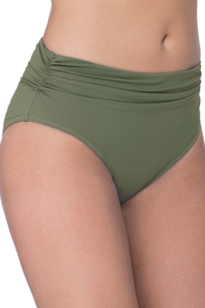 Profile by Gottex Moto Olive Shirred Tankini Bottom