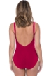 Profile by Gottex Moto Ruby V-Neck Shirred Underwire One Piece Swimsuit