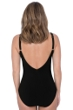 Profile by Gottex Moto Black D-Cup Plunge V-Neck One Piece Swimsuit