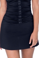 Profile by Gottex Moto Black Cover Up Skirt