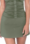 Profile by Gottex Moto Olive Cover Up Skirt