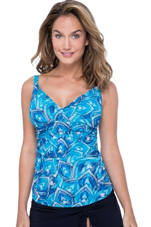 Profile by Gottex Birds of a Feather D-Cup V-Neck Tankini Top