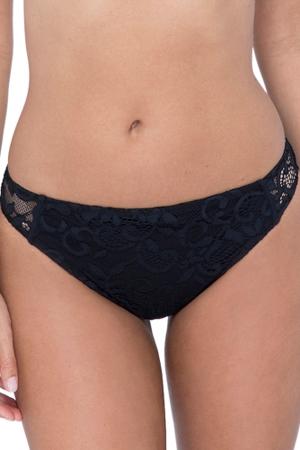 Profile by Gottex Shalimar Black Lace Hipster Bikini Bottom