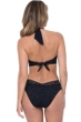 Profile by Gottex Shalimar Black Lace V-Neck Halter Cut Out One Piece Swimsuit