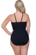 Profile by Gottex Shalimar Black Plus Size Lace Strappy High Neck One Piece Swimsuit