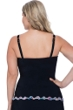 Profile by Gottex Fantasia Black Plus Size Scoop Neck Underwire Tankini Top