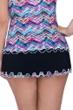 Profile by Gottex Fantasia Black Plus Size Side Slit Cinch Swim Skirt