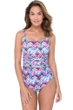 Profile by Gottex Fantasia Shirred One Piece Swimsuit